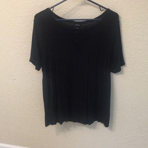Rue21 Black mesh v-neck top size XL